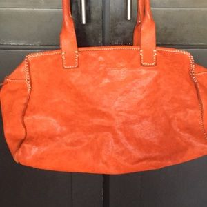 DKNY pure orange leather handbag